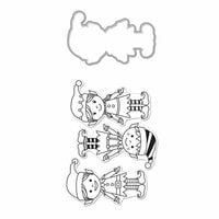 Hero Arts - Christmas - Die and Clear Photopolymer Stamp Set - Santa's Elves