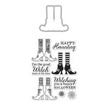 Hero Arts - Halloween - Die and Clear Acrylic Stamp Set - Witch Feet