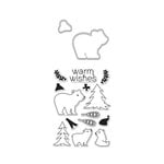 Hero Arts - Lia Griffith Collection - Christmas - Die and Clear Acrylic Stamp Set - Winter Bear