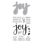 Hero Arts - Christmas - Die and Clear Acrylic Stamp Set - Joy