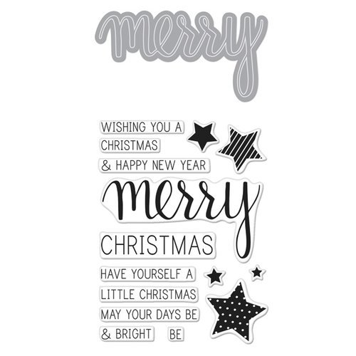 Hero Arts - Christmas - Die and Clear Photopolymer Stamp Set - Merry