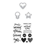 Hero Arts - Kelly Purkey Collection - Die and Clear Acrylic Stamp Set - Everyday Clips