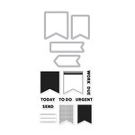 Hero Arts - Kelly Purkey Collection - Die and Clear Photopolymer Stamp Set - Planner Banners