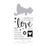 Hero Arts - 2016 Valentines Collection - Die and Clear Acrylic Stamp Set - Love