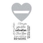 Hero Arts - 2016 Valentines Collection - Die and Clear Acrylic Stamp Set - Floral Heart