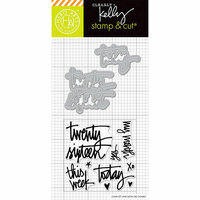 Hero Arts - Kelly Purkey Collection - Die and Clear Photopolymer Stamp Set - Twenty Sixteen