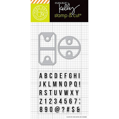 Hero Arts - Kelly Purkey Collection - Die and Clear Acrylic Stamp Set - Alpha Tabs