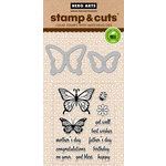 Hero Arts - Critters Collection - Die and Clear Acrylic Stamp Set - Butterfly Pair