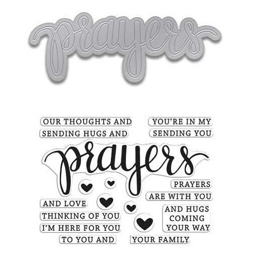 Hero Arts - Die and Clear Acrylic Stamp Set - Prayers