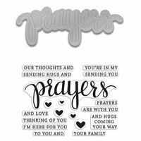 Hero Arts - Die and Clear Photopolymer Stamp Set - Prayers