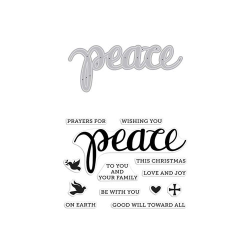 Hero Arts - Christmas - Die and Clear Photopolymer Stamp Set - Peace