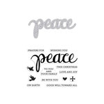 Hero Arts - Christmas - Die and Clear Acrylic Stamp Set - Peace
