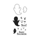 Hero Arts - Fall Collection - Halloween - Die and Clear Photopolymer Stamp Set - Boo