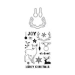 Hero Arts - Christmas - Die and Clear Acrylic Stamp Set - Antlers