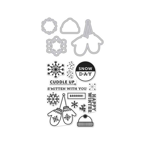 Hero Arts - Kelly Purkey Collection - Die and Clear Acrylic Stamp Set - Kelly's S'Mitten