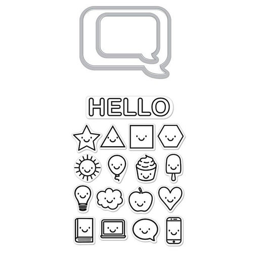 Hero Arts - Die and Clear Photopolymer Stamp Set - Everything Smiles