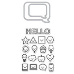 Hero Arts - Die and Clear Acrylic Stamp Set - Everything Smiles