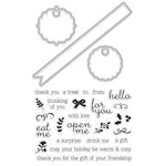 Hero Arts - Die and Clear Acrylic Stamp Set - Little Messages