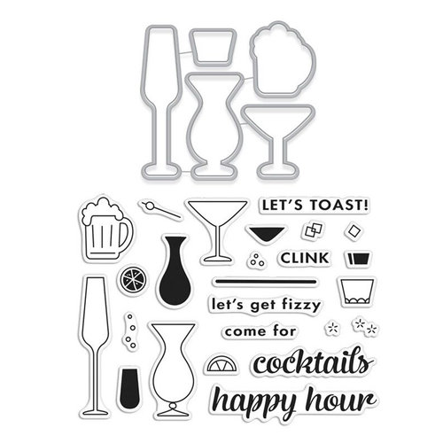 Hero Arts - Die and Clear Photopolymer Stamp Set - Cocktail Party