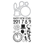Hero Arts - Die and Clear Acrylic Stamp Set - Happy New Year