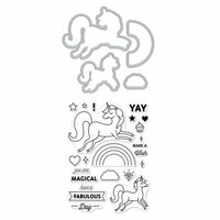 Hero Arts - Die and Clear Photopolymer Stamp Set - Unicorn