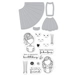 Hero Arts - Die and Clear Acrylic Stamp Set - Dress Up