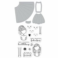 Hero Arts - Die and Clear Photopolymer Stamp Set - Dress Up