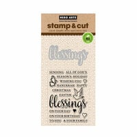 Hero Arts - Die and Clear Photopolymer Stamp Set - Blessings