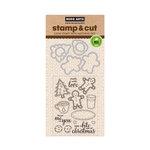 Hero Arts - Christmas - Die and Clear Acrylic Stamp Set - Santa Snacks