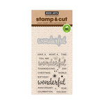 Hero Arts - Die and Clear Acrylic Stamp Set - Wonderful