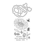 Hero Arts - Die and Clear Acrylic Stamp Set - Daisy and Bugs