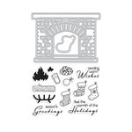 Hero Arts - Christmas - Die and Clear Acrylic Stamp Set - Winter Hearth