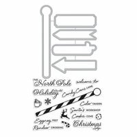Hero Arts - Christmas - Die and Clear Photopolymer Stamp Set - North Pole Sign