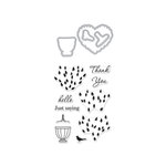 Hero Arts - Die and Clear Photopolymer Stamp Set - Layered Topiary