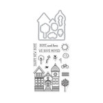 Hero Arts - Die and Clear Photopolymer Stamp Set - House