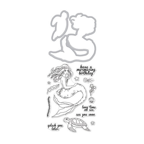 Hero Arts - Die and Clear Photopolymer Stamp Set - Mermaid