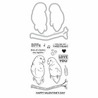 Hero Arts - Die and Clear Photopolymer Stamp Set - Love Birds