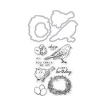 Hero Arts - Die and Clear Photopolymer Stamp Set - Chirp