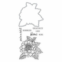 Hero Arts - Die and Clear Photopolymer Stamp Set - Hero Florals - Dahlia