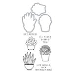 Hero Arts - Die and Clear Acrylic Stamp Set - Hero Florals - Succulent