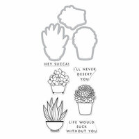 Hero Arts - Die and Clear Photopolymer Stamp Set - Hero Florals - Succulent