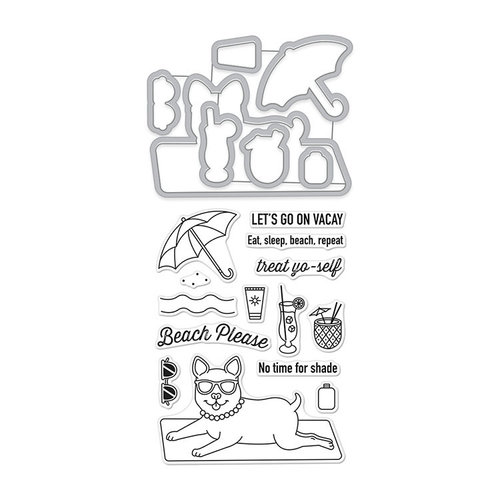 Hero Arts - Die and Clear Photopolymer Stamp Set - Beach Please