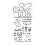 Hero Arts - Die and Clear Acrylic Stamp Set - Beach Please