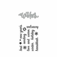 Hero Arts- Season of Wonder Collection - Die and Clear Photopolymer Stamp Set - Wishes