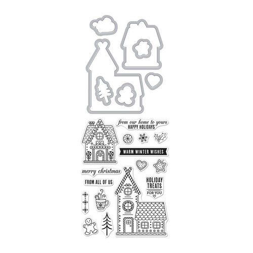 Hero Arts- Season of Wonder Collection - Christmas - Die and Clear Photopolymer Stamp Set - Gingerbread House