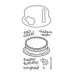 Hero Arts - Die and Clear Photopolymer Stamp Set - Birthday Cake