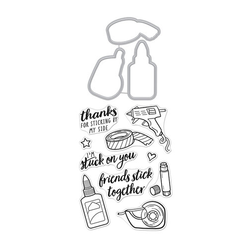 Hero Arts - Die and Clear Photopolymer Stamp Set - Stick Together