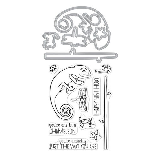 Hero Arts - Dies and Clear Photopolymer Stamp Set - Chameleon