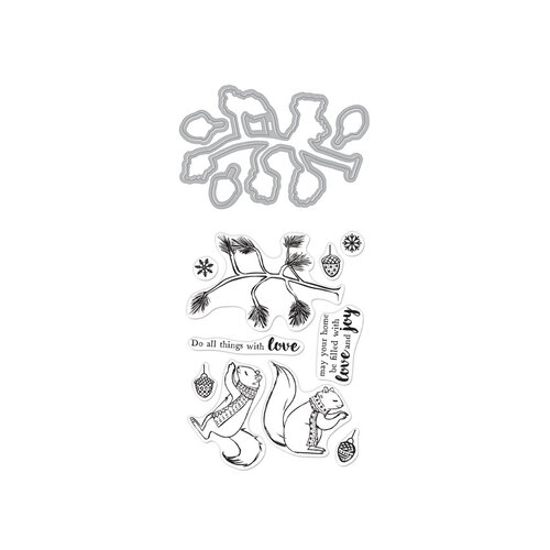 Hero Arts - Die and Clear Photopolymer Stamp Set - Christmas Squirrels