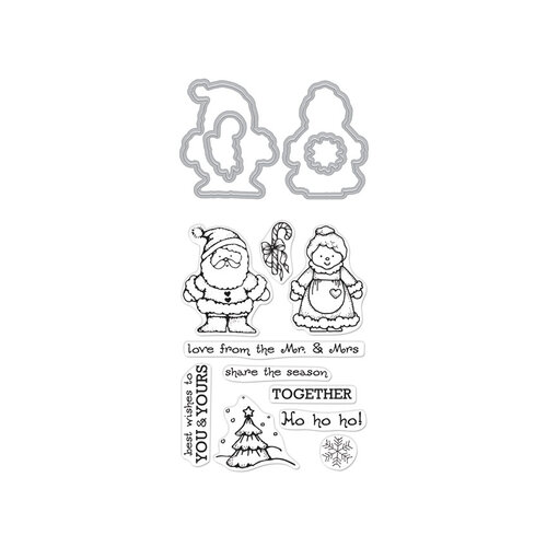 Hero Arts - Christmas - From the Vault - Die and Clear Photopolymer Stamp Set - Mr. and Mrs.